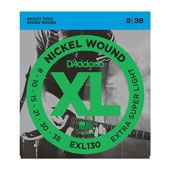 D`Addario EXL-130  струны для электрогитары, Extra Super Light, никель, 8-38