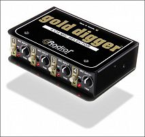 Radial Gold Digger (MS4) SALE  селектор микроф. сигнала, 4 XLR входа, 1 XLR выход