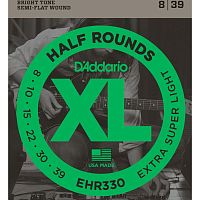 D`Addario EHR-330  струны для электрогитары . Extra-Super Light, калён. сталь, шлиф. опл, 8-39