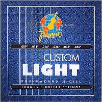 Framus 45210CL  струны для электрогитары Blue Label 9-46 (Custom Light), никель