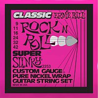 Ernie Ball 2253  струны для электрогитары Classic Pure Nickel Super Slinky 9-42